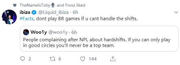 Liquid_ibiza:不能处理刷圈转移就不要玩大逃杀游戏了