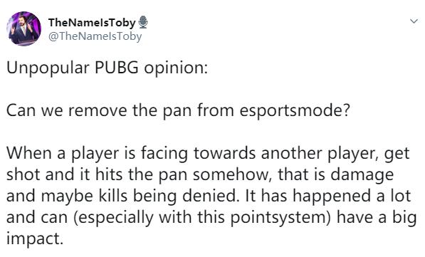 欧洲解说建议PUBG比赛取消平底锅,称其抵挡伤害